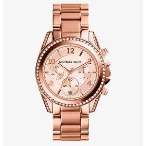 Blair Rose Gold Tone Chronograph Watch